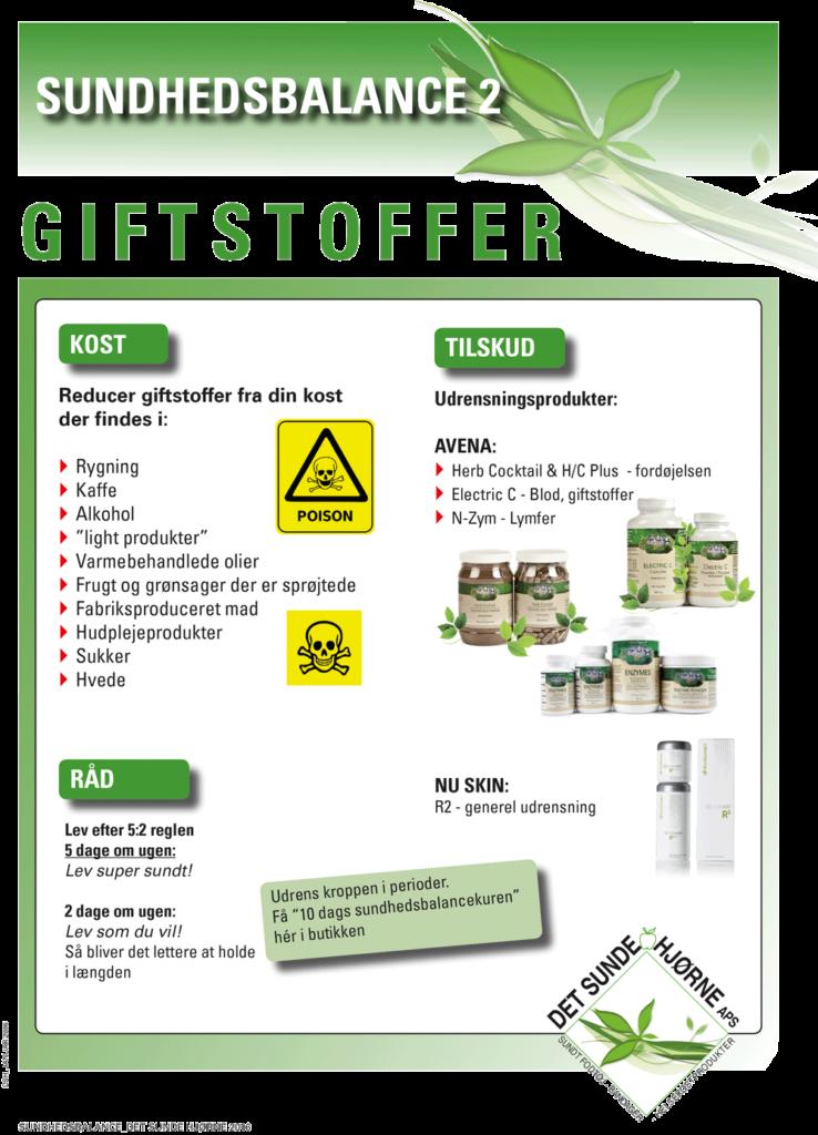 Undgå giftstoffer, toxiner og affaldsstoffer